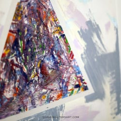 Shane Walters Art Modern Triangle Painting 13 0452
