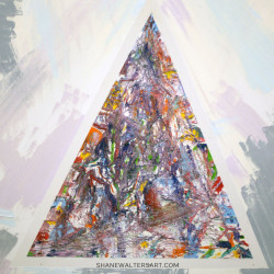 Shane Walters Modern Art Triangle Painting 13 0522