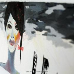 Shane Walters Art Futuristic Girl Painting 4246
